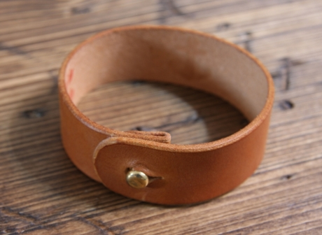 SOXISIX LEATHER BRACELET No.49/COGNAC