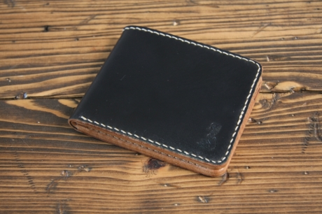 SOXISIX BIFOLD WALLET Horween Shell Cordovan® PM.45/BLACK