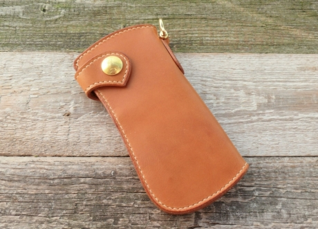 SOXISIX WALLET PM.49 SIMPLE/BRASS:COGNAC