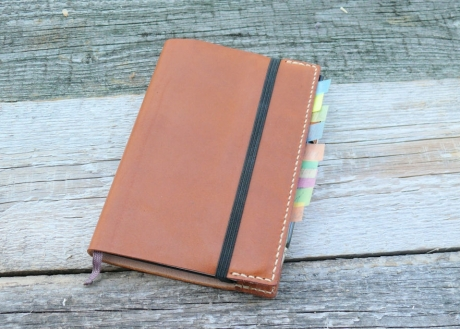SOXISIX NOTEBOOK LEATHER COVER A6/COGNAC