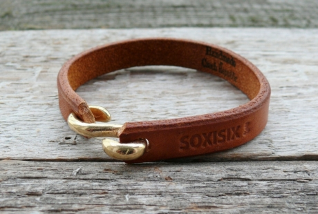 SOXISIX LEATHER BRACELET No.47/COGNAC