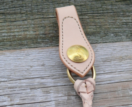 SOXISIX LEATHER WALLET ROPE No.44-VEGETABLE TAN:BRASS