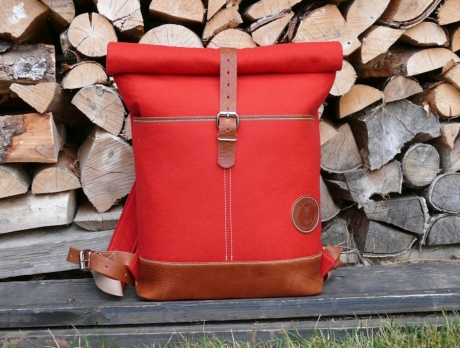 SOXISIX ROLL TOP BACKPACK VZ.30/FELT/RED
