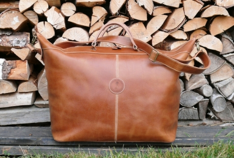 SOXISIX TRAVELER BAG VZ.37/LEATHER/WHITE BULL WOOD