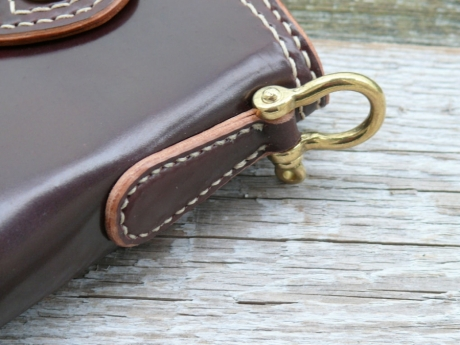 SOXISIX WALLET Horween Shell Cordovan® PM.49/BRASS:OXBLOOD